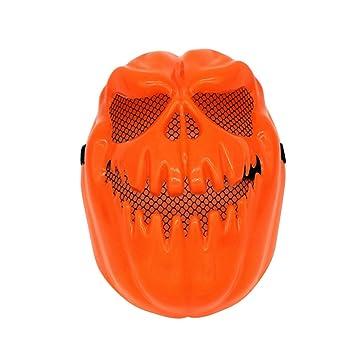 Tinksky Máscara de calabaza espeluznante Máscara decorativa de Halloween Máscara de fantasma Terror Máscara de Halloween