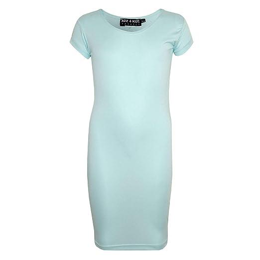 75c06c4933d7 Amazon.com: a2z4kids Gilrs Midi Dress Kids Plain Color Bodycon School Fashion  Dresses 5-13Yr: Clothing