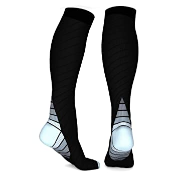 Unisex calcetines de compresi¨®n 1 par gris deporte atl¨¦tico media