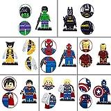 8Pcs/Set Fun Toys for Children Kids Toddlers, the Super Heroes Action Series Mini Building Blocks Toy Set - Iron Man Thor Wolverine Hulk Captain America Batman Spiderman Superman