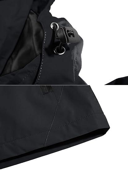 Amazon.com: BIYLACLESEN Womens Waterproof Hooded Jacket Lightweight Softshell Casual Sportswear: Clothing