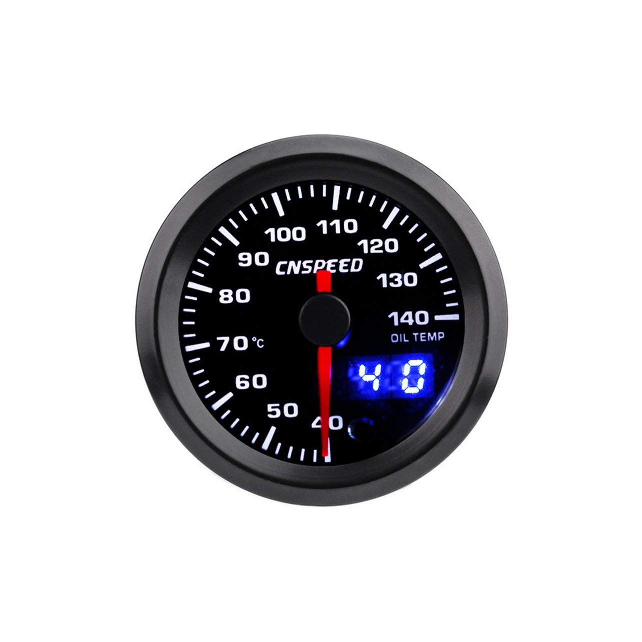 WOSOSYEYO CNSPEED 7 Colores LED Indicador Digital Auto Car Oil Temp Gauge Meter Car Oil Temperature Gauge con Sensor 40-140 /° C