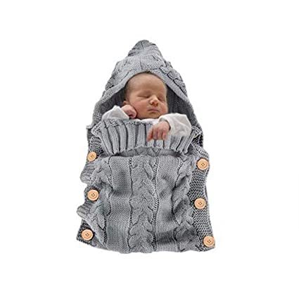AIBAB - Saco de Dormir para bebé (Tejido de Ganchillo, Unisex, Ligero,