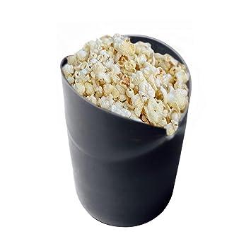 ... AOLVO silicona palomitas de maiz poppers no aceite plegable palomitas cuenco 100% de calidad alimentaria sin BPA, negro, talla única: Amazon.es: Hogar