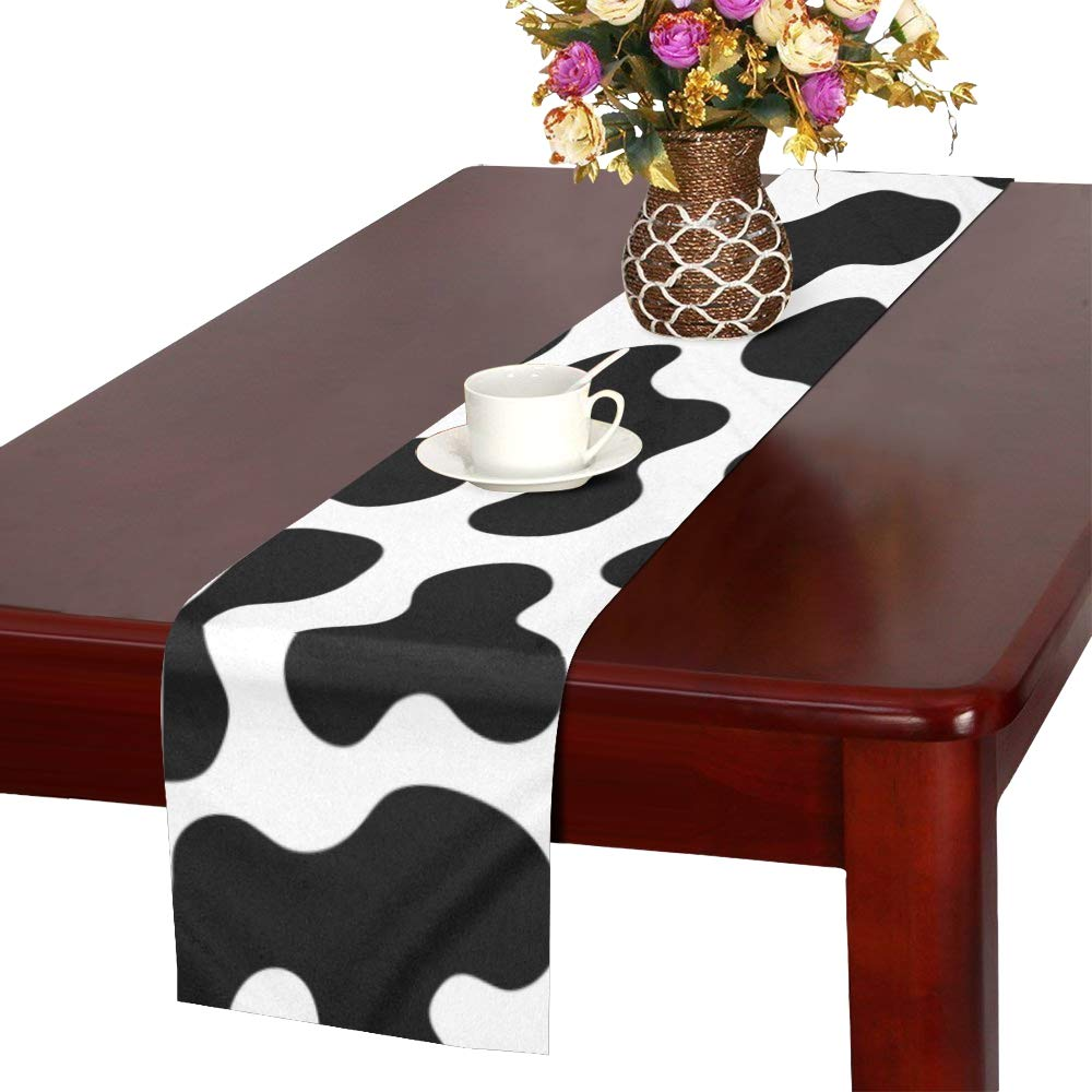 Stupendous Amazon Com Whiofe Cow Spot Vintage Fashion Art Table Runner Pabps2019 Chair Design Images Pabps2019Com