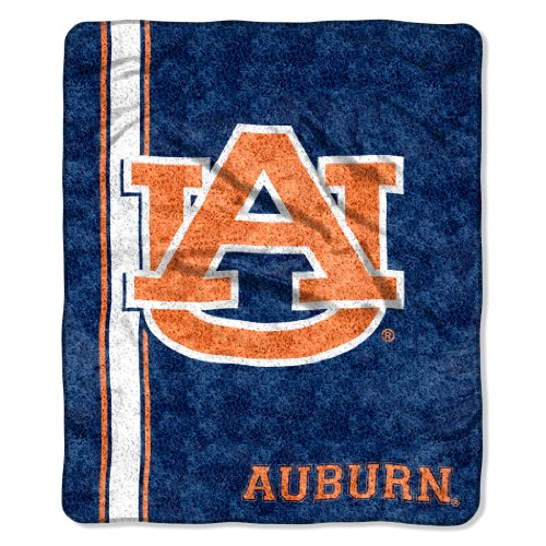 The Northwest Company Officially Licensed NCAA Auburn Tigers Jersey Sherpa on Sherpa Throw Blanket, 50