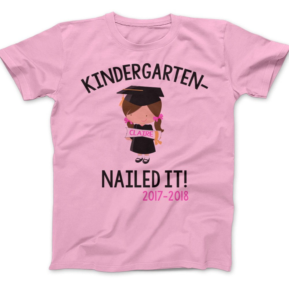 Zoey's Attic Kindergarten Graduation end of Year Shirt 2018 Graduation Shirt - Pink (YS (8))