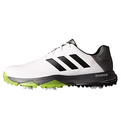 adidas Golf Adipower Bounce Wide White/Core Black/Solar Slime 10