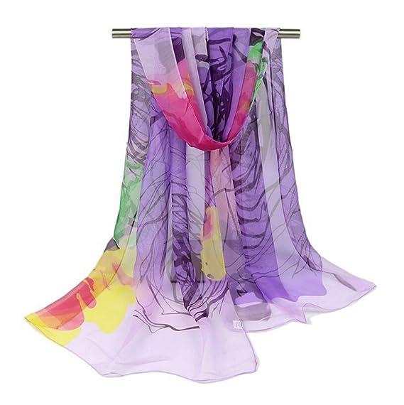 aloiness Chiffon delle Sciarpe Donna Sciarpa Sciarpe Foulard donna Ideale  per Abiti da Sera cdcae58f1d22