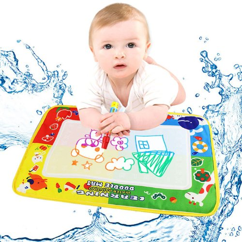 USHOT Baby Kids Toy, 4Color Water Drawing Mat Board &Magic Pen Doodle Kids Toy Gift 46X30cm