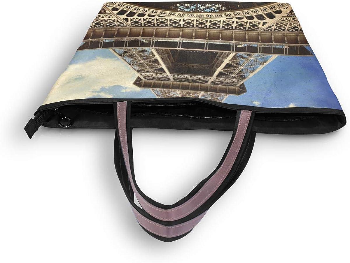My Daily Women Tote Shoulder Bag Eiffel Tower Paris Vintage Handbag
