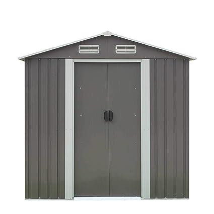 amazon com peach tree outdoor garden storage shed utility tool