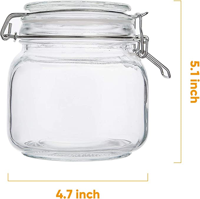25oz Glass Jar Canister Container~Black Twist Lid~Multiuse~Storage Arts Crafts