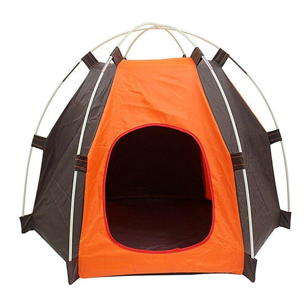 Tienda de campaña portátil plegable impermeable para mascota Casa para interior, al aire libre verano, playa, camping plegable para gato y perro Set de casa ...