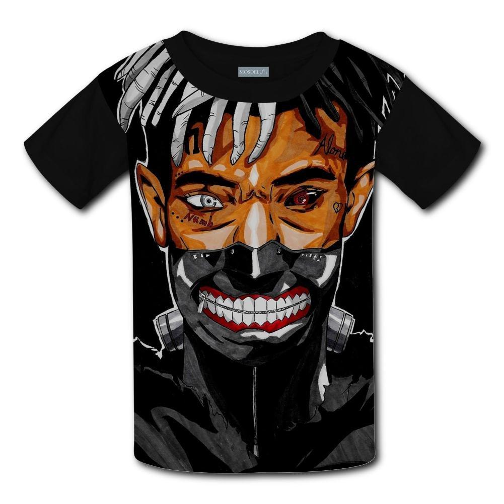 Fashion Kids Tshirt Hot Tops 3D Cartoon XXXTentacion Short T Sleeve Shirt Cool Graphics Tees