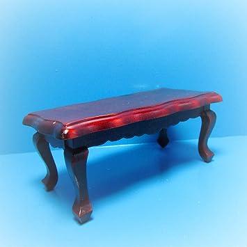 Amazon Com Dollhouse Coffee Table In Mahogany Kl2078 Miniature