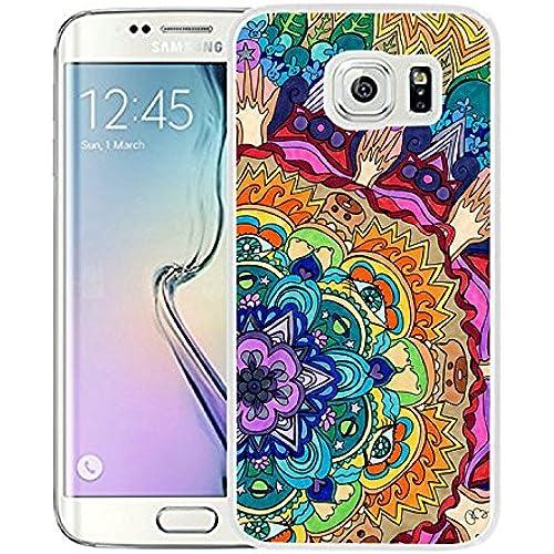 Galaxy S7 Edge Case Samsung Galaxy S7 Edge Case Dseason TPU Non-Slip High Definition Printing - Elegant Blue flowers Sales