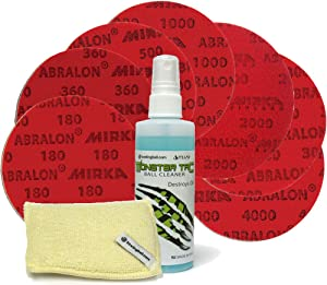 bowlingball.com Total Bowling Ball Resurfacing and Cleaning Kit (Set of 7 Abralon Pads + Monster Tac & Monster Pad)