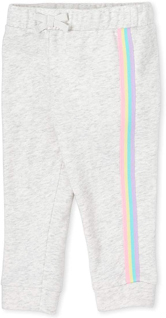 The Childrens Place Baby Girls Side Striped Joggers