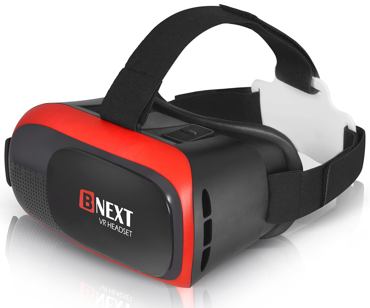 3D VR Headset Virtual Reality Glasses for iPhone & Android Phones | 2018 Improved VR Viewer Compatible with a Huge List of Smartphones | New Goggles for Games & Videos | Better Lenses, Less Eye Stress