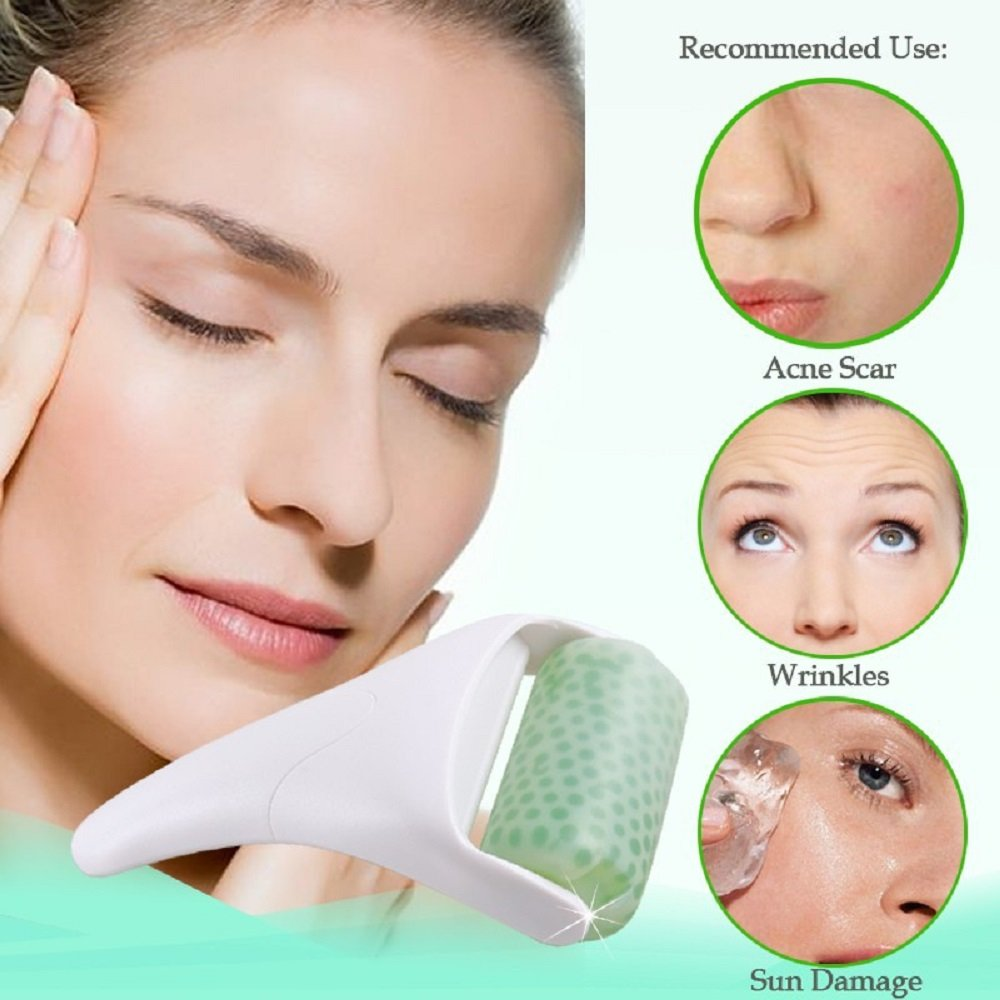 Skin Cool Ice Roller Face Body Facial Massager Cold Therapy Skin Rejuvenation Preventing Wrinkles Iced Wheel Calm Cool Smooth YAVOCOS
