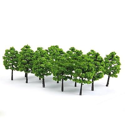 Floralby Fairy Garden Kit, 20Pcs Miniature Artificial Trees DIY Dollhouse Fairy Garden Ornament: Garden & Outdoor