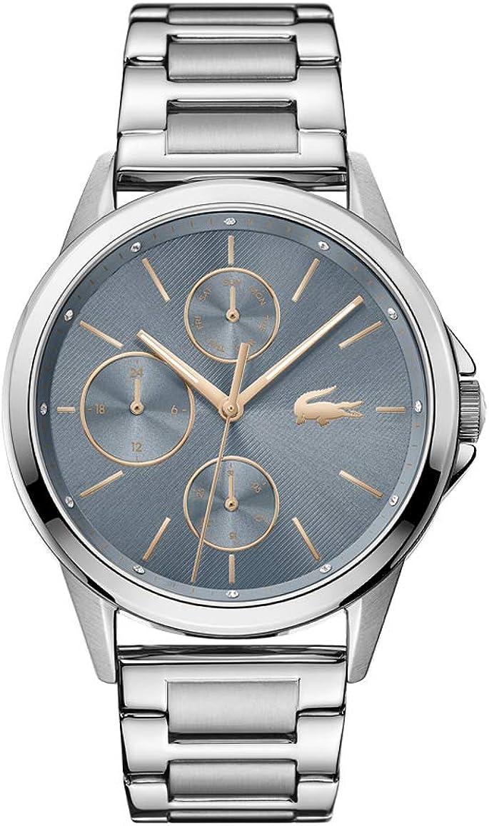 Lacoste Reloj Analógico para Mujer de Cuarzo con Correa en Acero Inoxidable 2001112