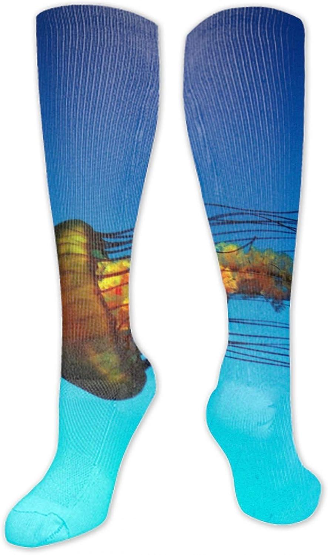 Digital Paintings Blazing Fire Long Socks Unisex Football Socks