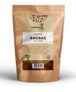 Natures Root polvo de baobab Bio – superaliment | vegetalien | vitamina C Natural
