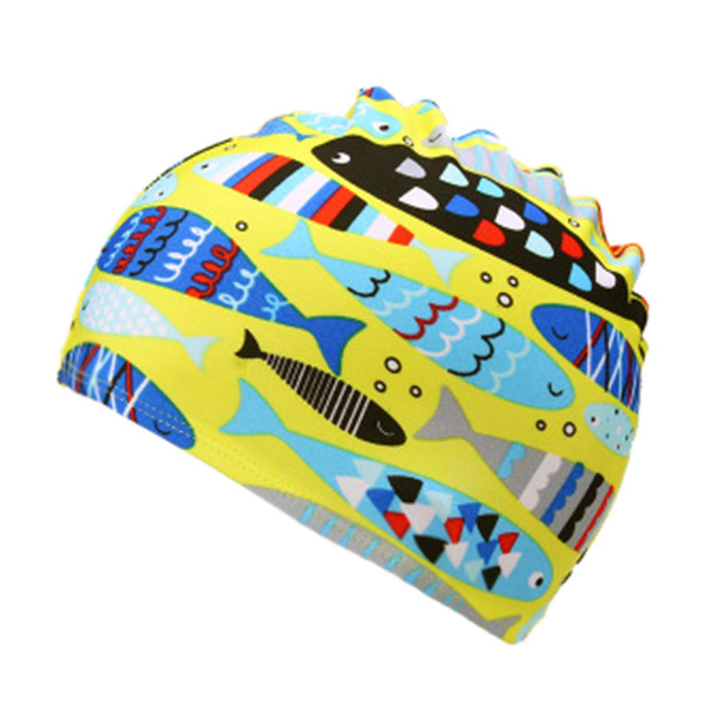 Baby Swimming Cap, Tensay Children Kids Boy Girl Cartoon Print Swim Waterproof Sports Hat