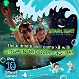 Starlight Swimming Games – the Glow-in-the-Dark Way to Play Classic Pool Games - More Fun for Kids than any Regular Pool Toy or Pool Accessory