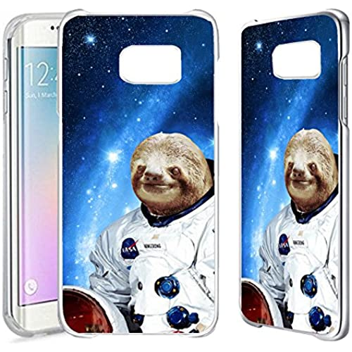 [TeleSkins] - Samsung Galaxy S7 EDGE Clear Case - Hipster Astronaut Sloth - Ultra Durable Slim Fit, Protective Sales