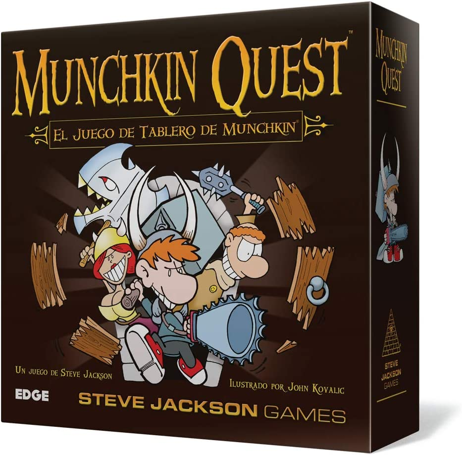 Asmodee – Munchkin Quest, Table Game (Edge Entertainment edgmq01)