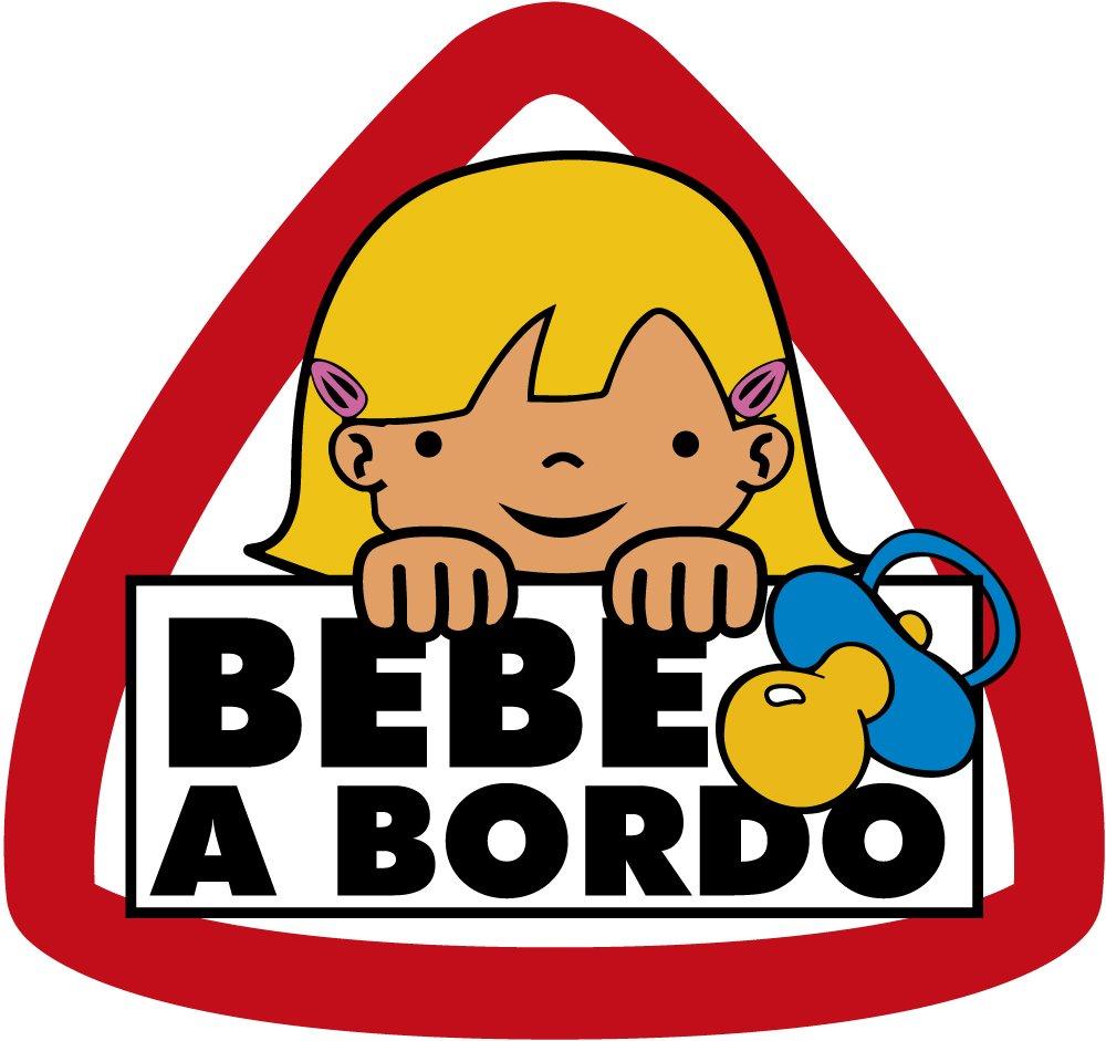 Adesivo Bambino A Bordo Grande ragazza 90 x 95 mm Ediciones Imagina S.L.