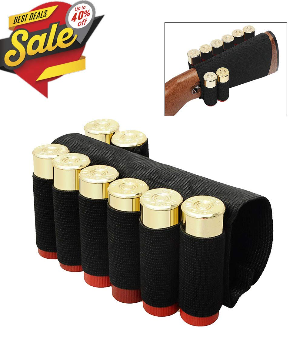 CS Force 2 Pack Tactical Buttstock Shotgun Shell Holder for Rifles, 8 Round by CS Force