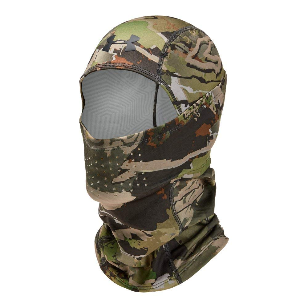 Under Armour Men's Coldgear Infrared Scent Control Hood, UA Forest Camo (940)/Black, One Size by Under Armour (Image #1)