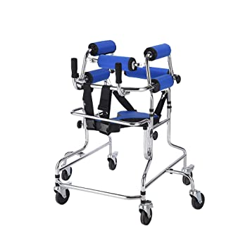 MMM- Standing Walk Stand/Walk Aid/Walker/Stand Frame with Seat Wheel ...