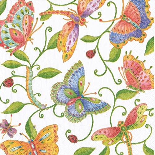 entertaining-with-caspari-cocktail-napkin-multicolor-parvanehs-garden-20-pack