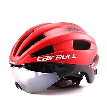 L&Y Cascos de Ciclismo Y Gafas Hombre/Mujer Extraíble Fuerza magnética Gafas Visera Bicicleta de