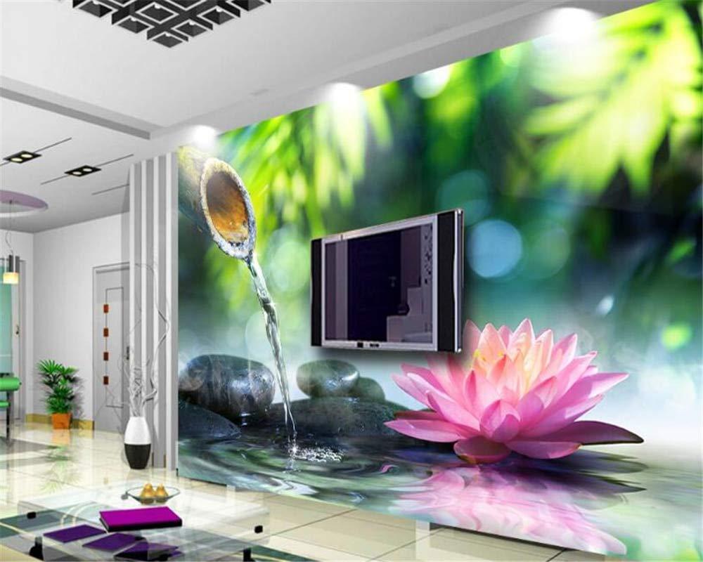 MuralXW Papel Tapiz Personalizado Fresco y Hermoso Agua Flor ...