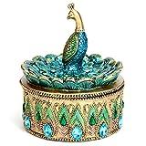 Bits and Pieces - Beautiful Peacock Trinket Box - Keepsake and Jewelry Box