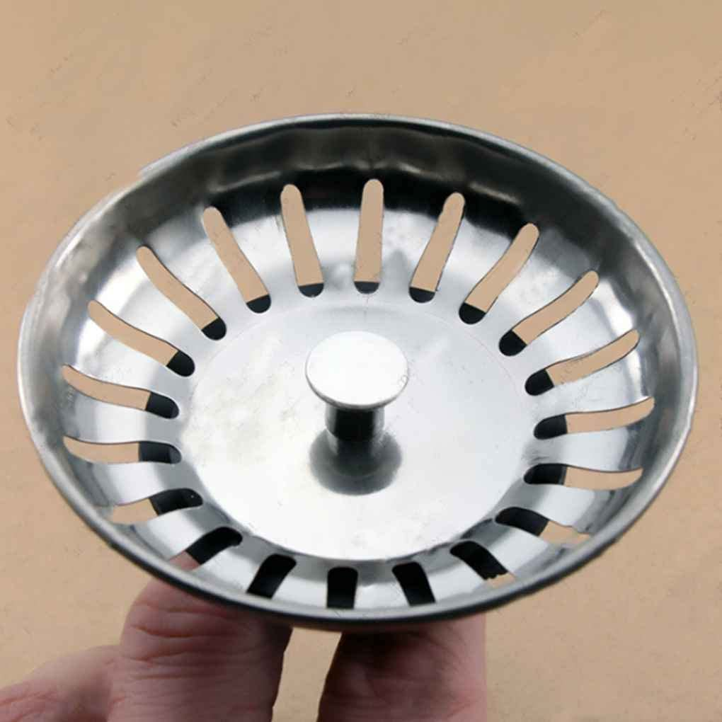 4pcs de Acero Inoxidable Fregadero de la Cocina Colador Plug Plug Residuos Filtro Tope de la Cubierta wufeng 1pc