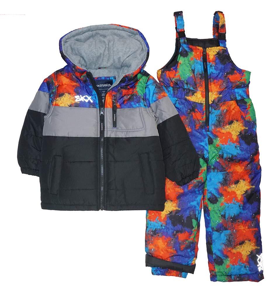 Skechers Boys' Toddler 2-Piece Heavyweight Snowsuit, Multi, 2T