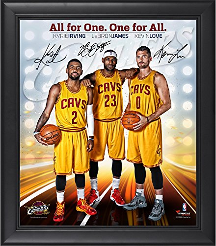 "Cleveland Cavaliers Framed Big 3 (LeBron James, Kyrie Irving, Kevin Love) 15"" x 17"" Photo Collage - Fanatics Authentic Certified"
