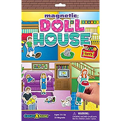Create-A-Scene Magnetic Playset - Dollhouse: Toys & Games