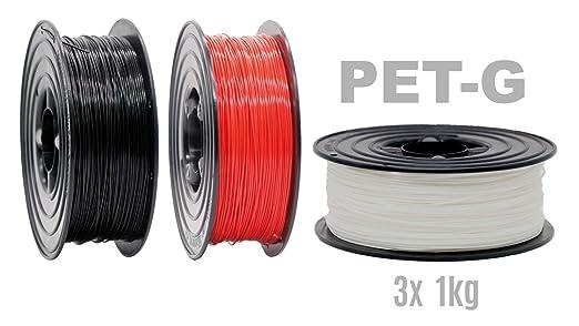 3D 1kg Drucker Filament Rolle PLA ABS 1,75mm schwarz weiß