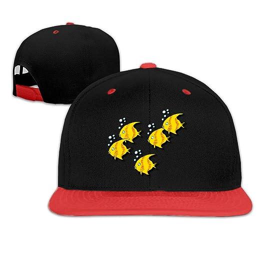 Amazon.com  Oopp Jfhg Yellow Tropical Fish Hip Hop Baseball Cap ... cb44d0d0eaaa