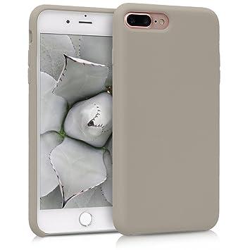 kwmobile Funda para Apple iPhone 7 Plus / 8 Plus - Carcasa de {TPU} para teléfono móvil - Cover {trasero} en {marrón topo}