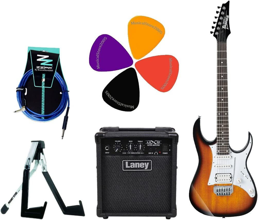 Ibanez Stratocaster Pack guitarra eléctrica/Combo Laney 10 W/accesorios: Amazon.es: Instrumentos musicales