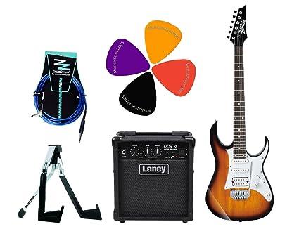 Ibanez Stratocaster Pack guitarra eléctrica/Combo Laney 10 W/accesorios